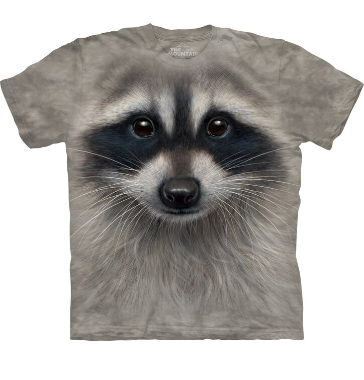 Kids' T-shirt Face Raccoon