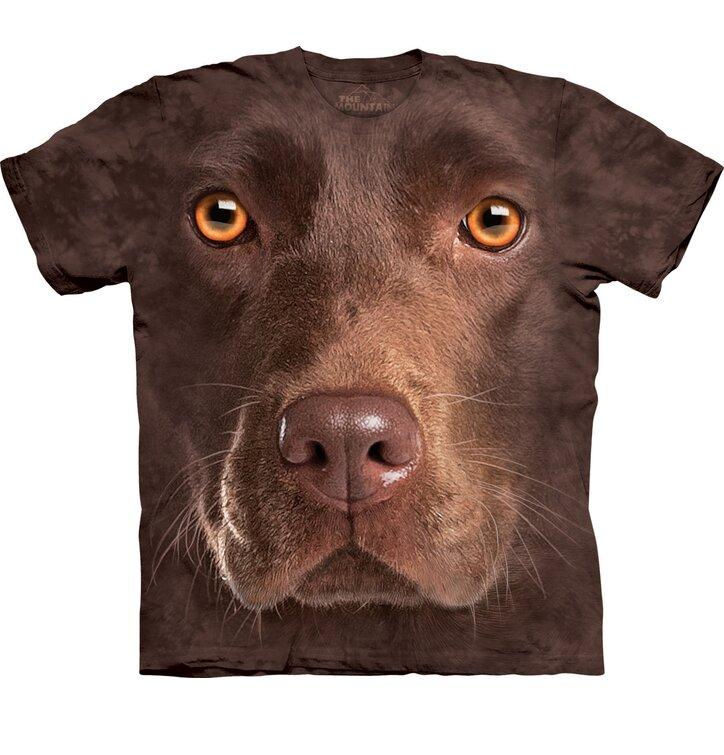 Tričko Obličej hnědého labradora