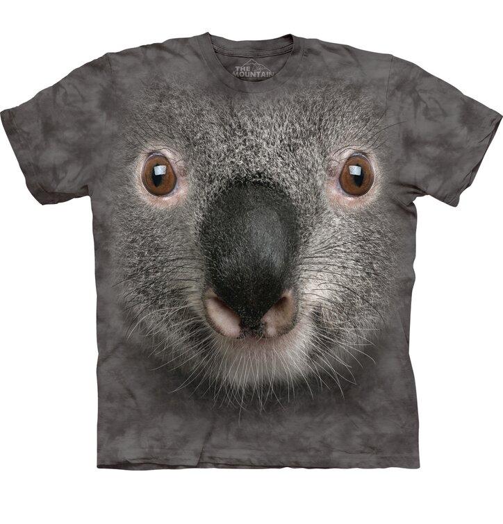 T-Shirt Grauer Koala Gesicht