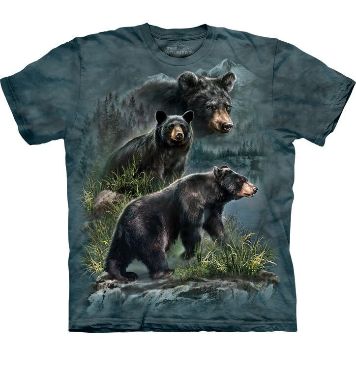 Three Black Bears Adult