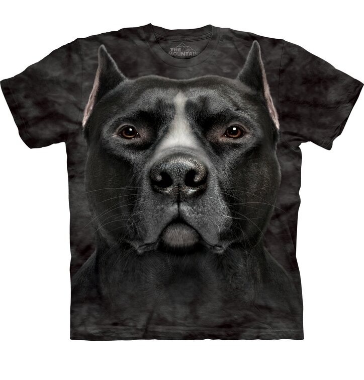 Black Pitbull Dog Head Adult