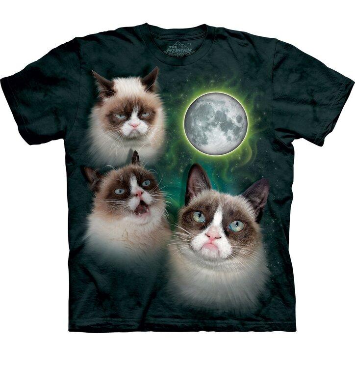 Tričko Grumpy cats pri Mesiaci