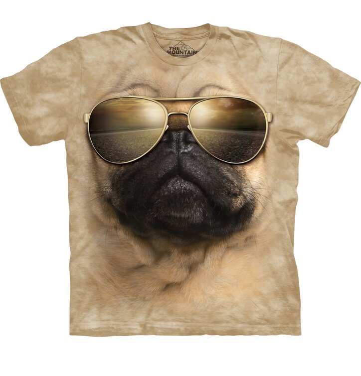 Tričko Mopslík s okuliarmi