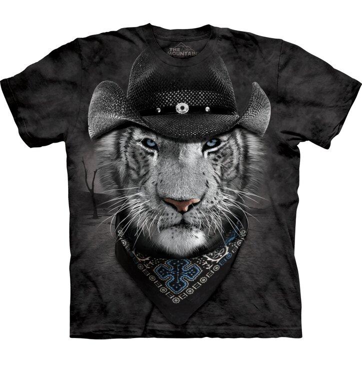 Cowboyos fehér tigris póló