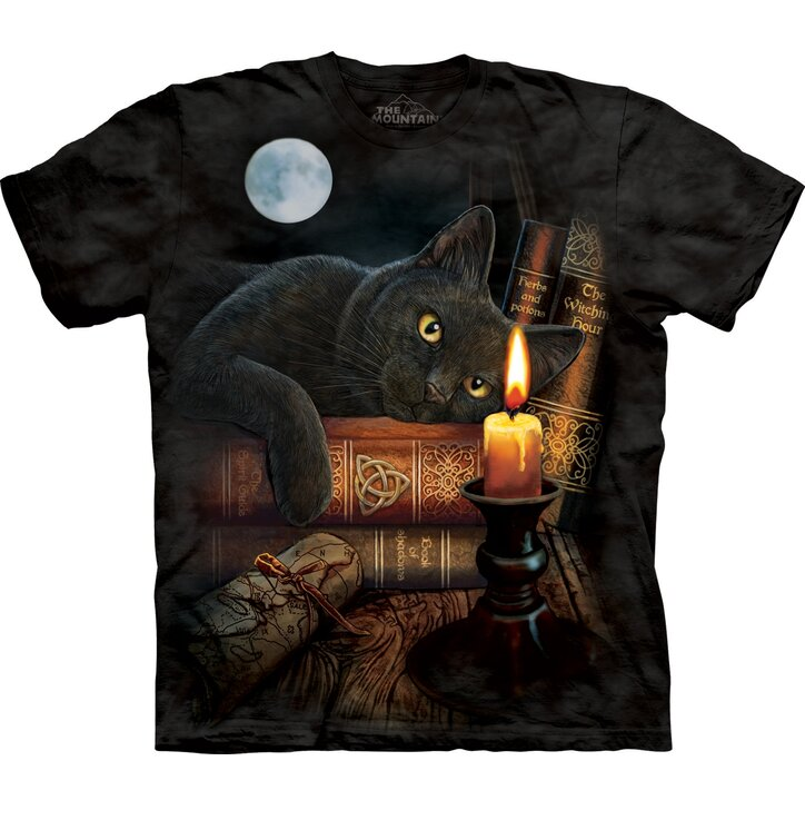 T-Shirt Katze bei der Kerze