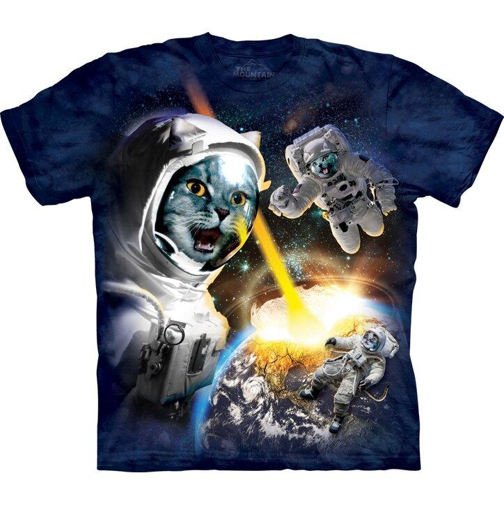 T-Shirt Katzen im Weltall
