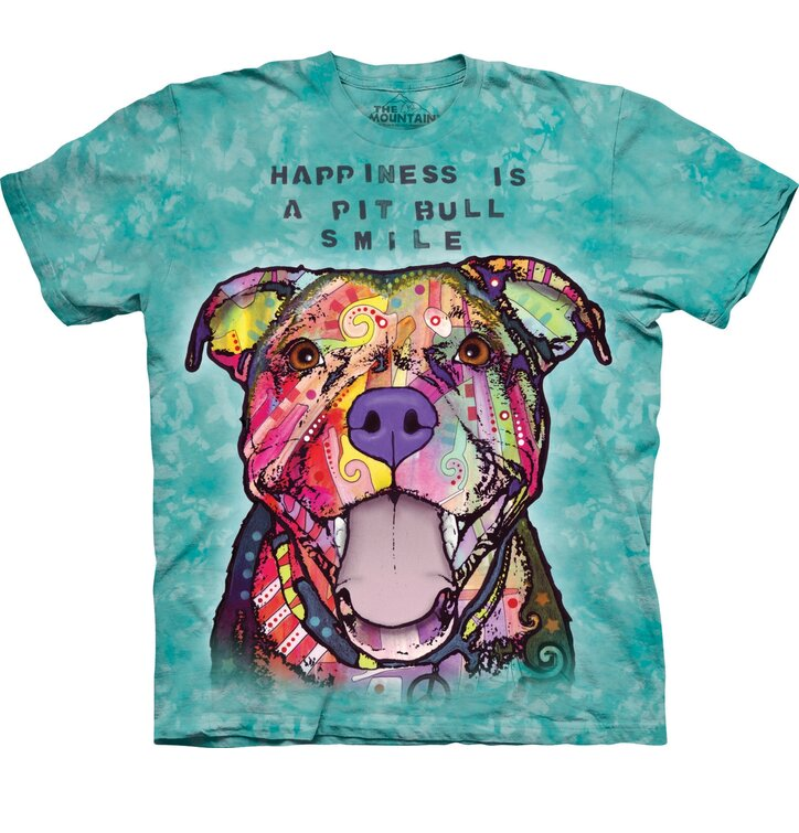 T-Shirt Russo Grinsender Pitbull
