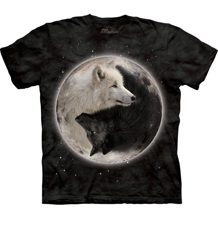 Tričko Jin Jang vlci