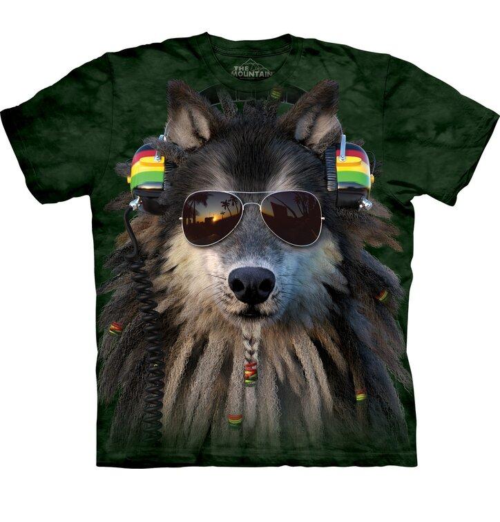 Raszta farkas póló