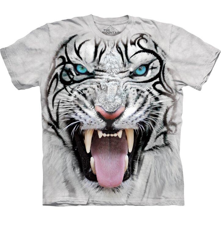 T-Shirt Gesicht Weißer Tiger