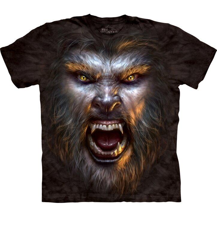 T-Shirt Gesicht Werwolf