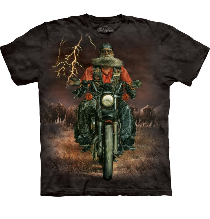 T-Shirt Kradfahrer im Gewitter