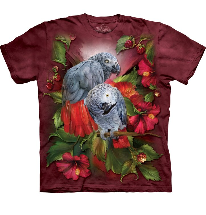 T-Shirt Afrikanische graue Papageien
