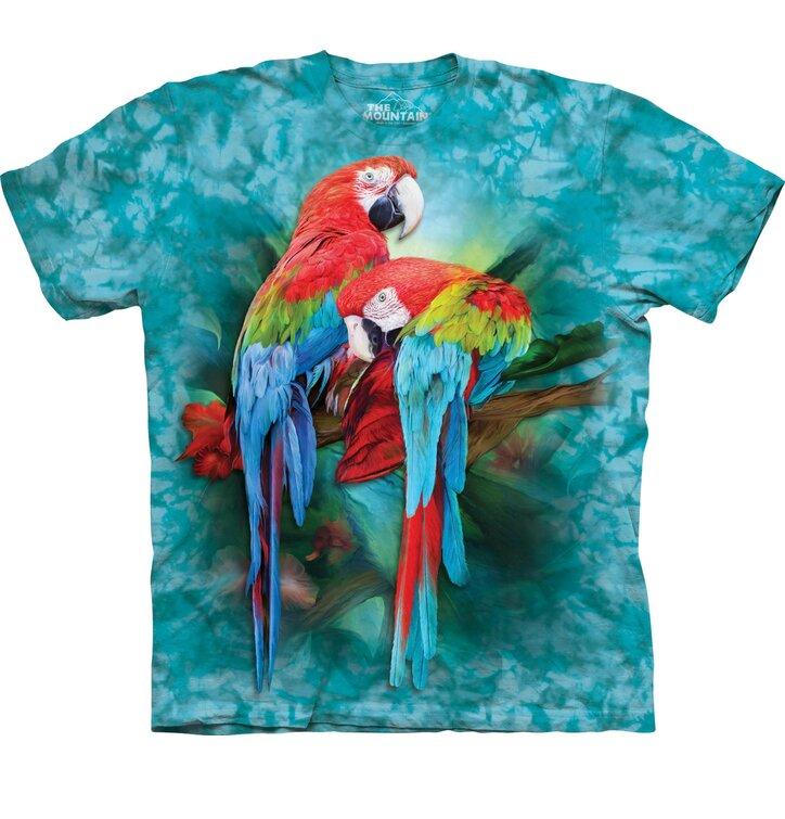Tričko Farebné papagáje