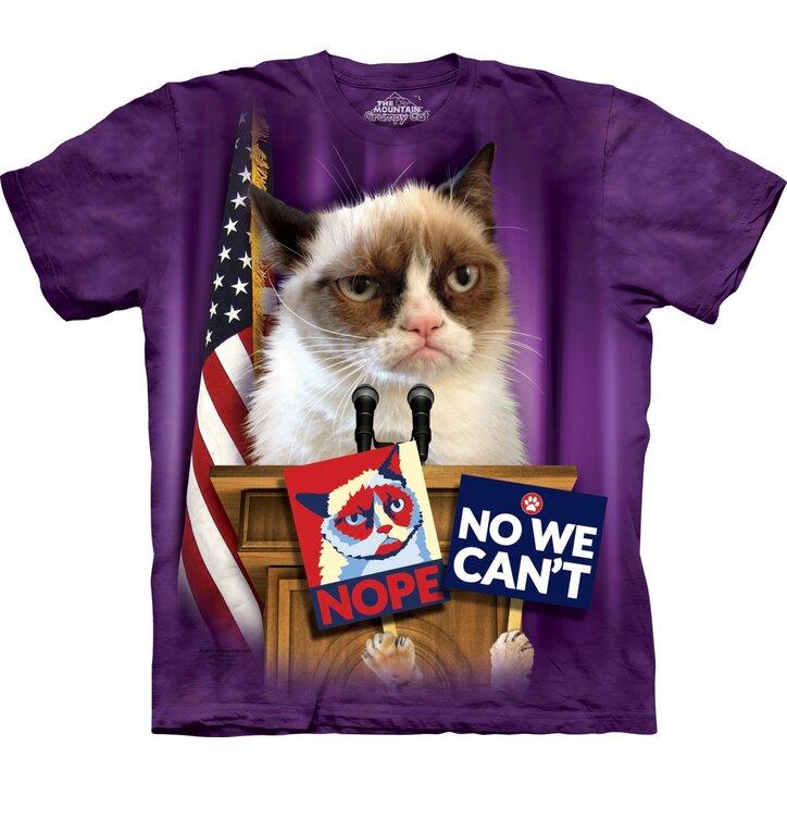 T-Shirt Grumpy Cat zum Präsidenten