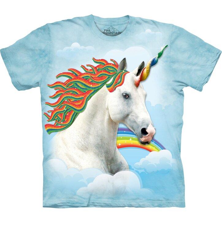 T-Shirt Regenbogenfarbiges Einhorn