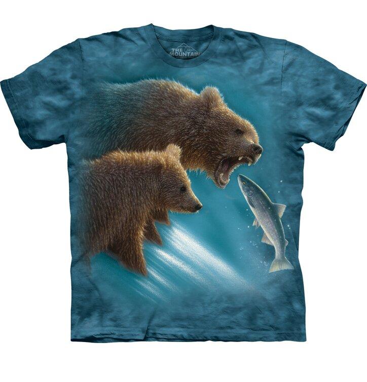 Vadászó medvék póló