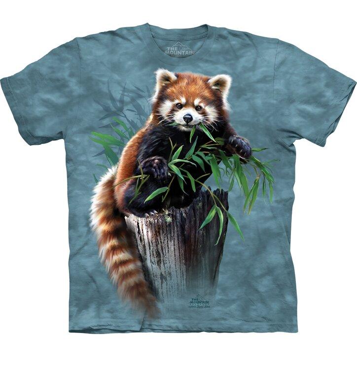 Tričko Červená panda s bambusem