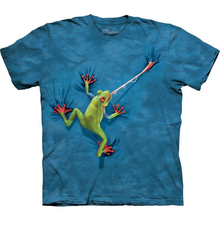 T-Shirt Frosch mit ausgestreckter Zunge