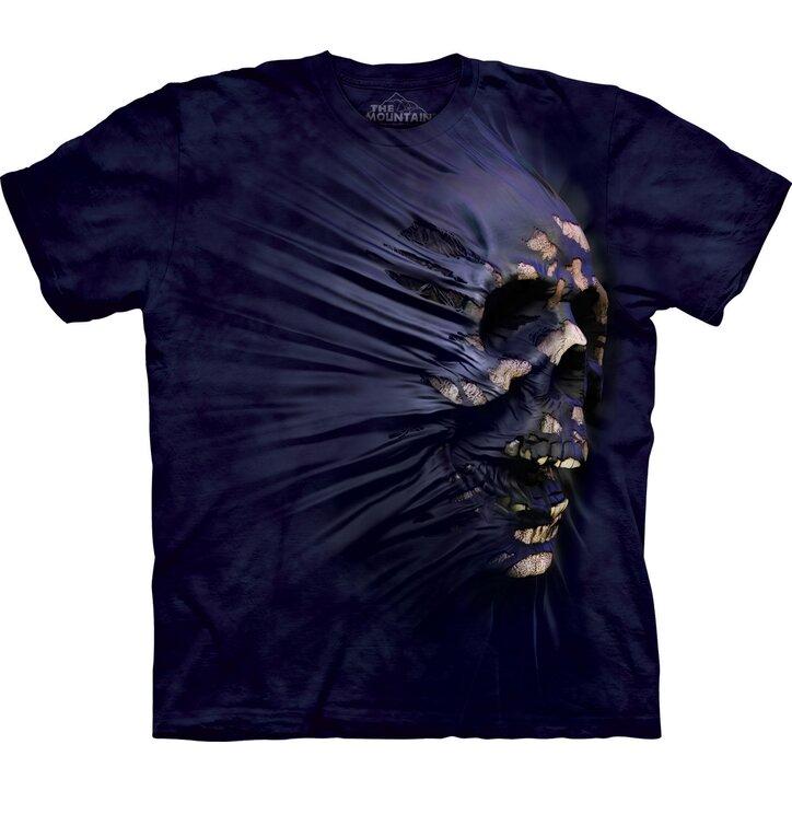 Tričko Fialová lebka