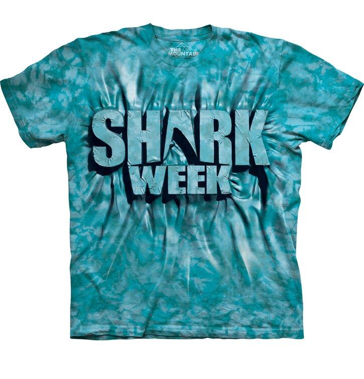 Aqua Shark Week T Shirt