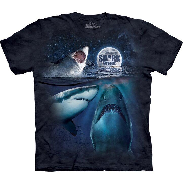 Three Shark Week Moon T Shirt