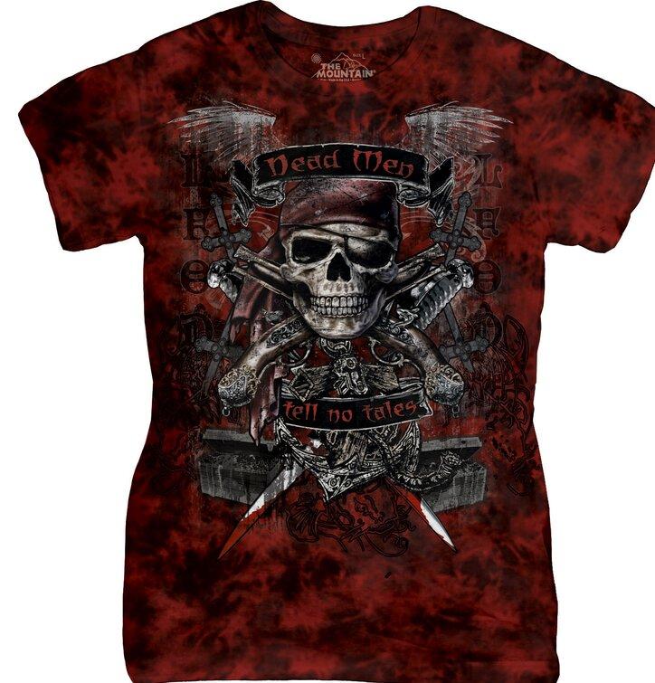 Dámské tričko Lebka piráta