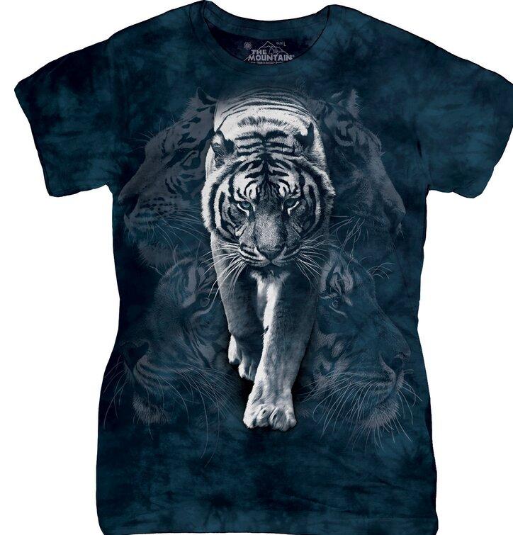 Dámske tričko Biely tiger Zoo