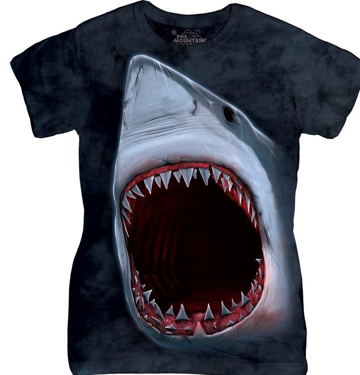 Damen T-Shirt Haizähne