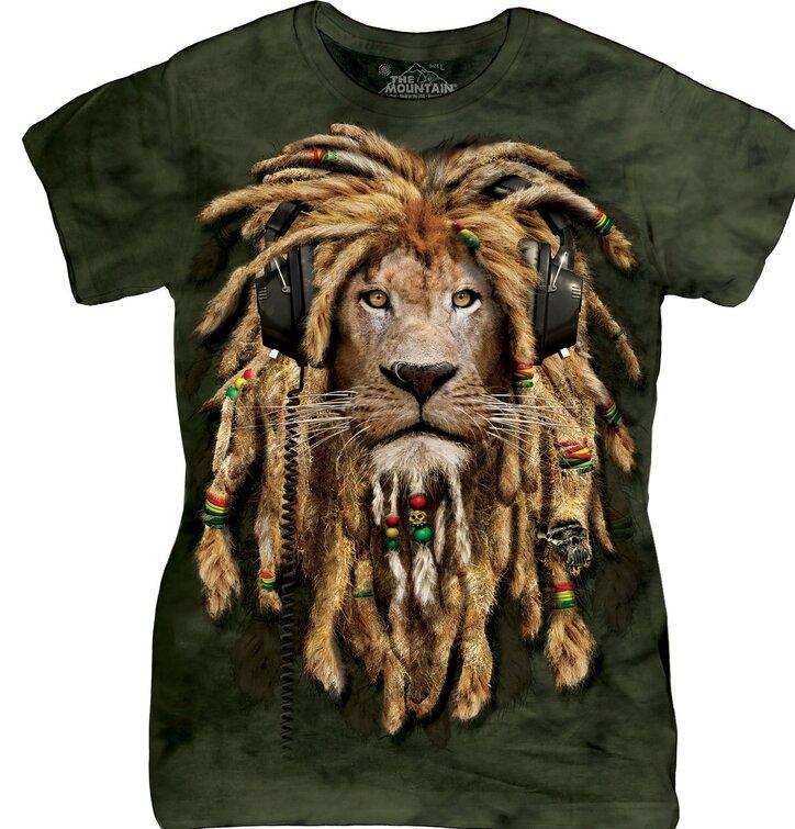 Damen T-Shirt Filzlockener Löwe