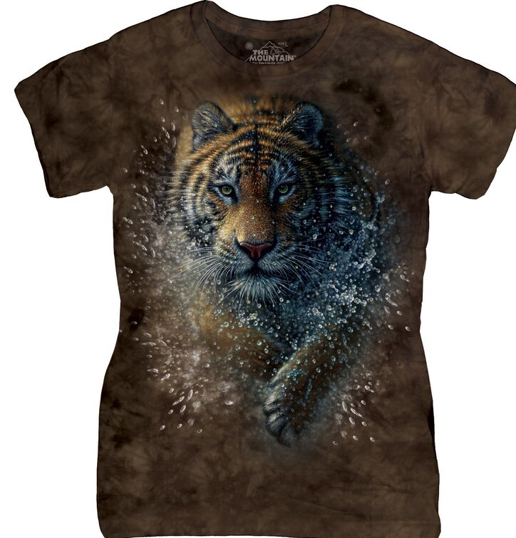 T-shirt Splashy Tiger