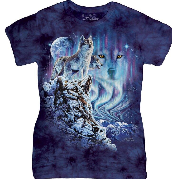 Dámské tričkos hlavolamem Najdi 10 vlků