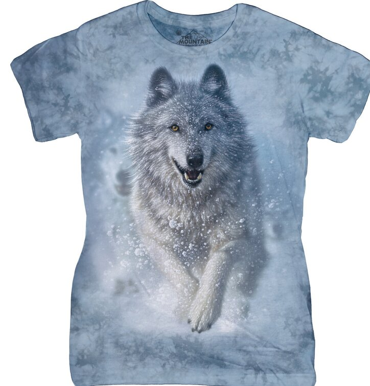 Damen T-Shirt Schneewolf