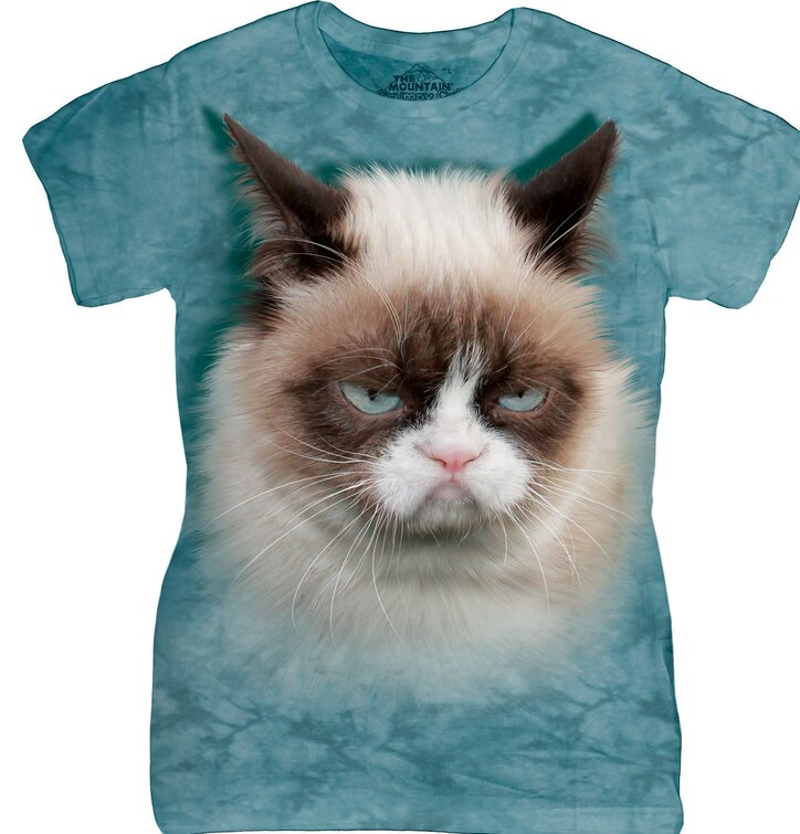 Damen T-Shirt Grumpy Cat
