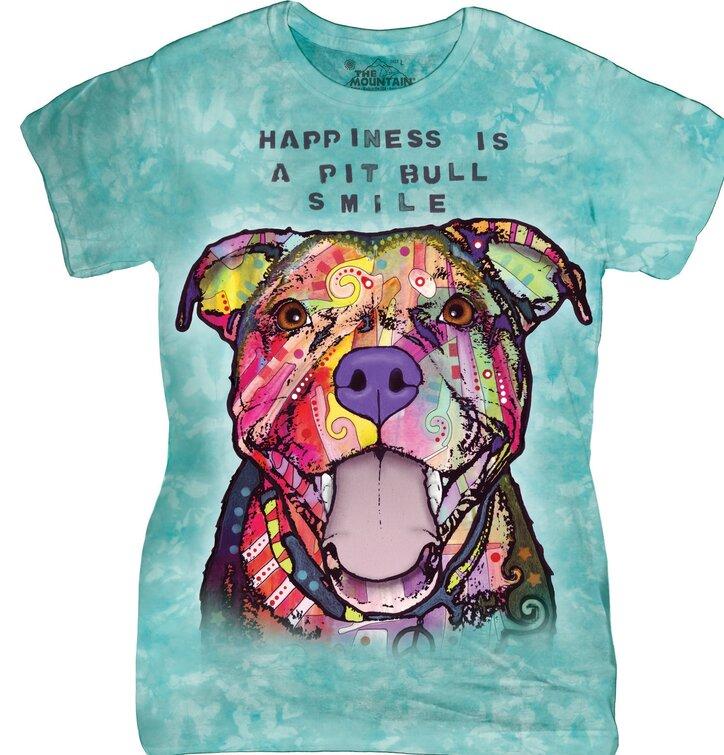 Dámské tričko Russo usmívající se Pit Bull