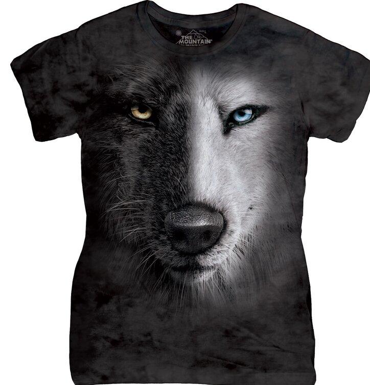 Dámske tričko Čierno-biely vlk