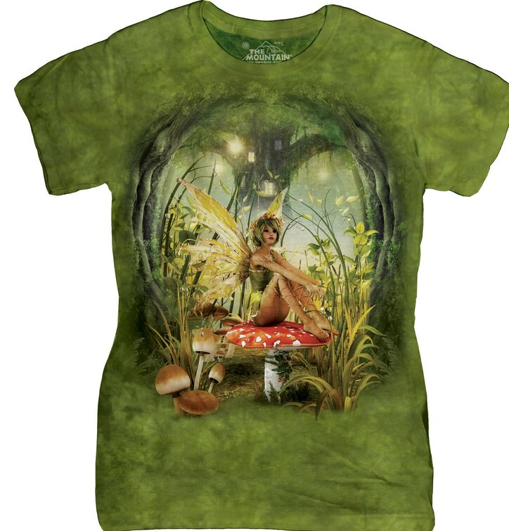 Damen  T-Shirt Fee und Fliegenpilz