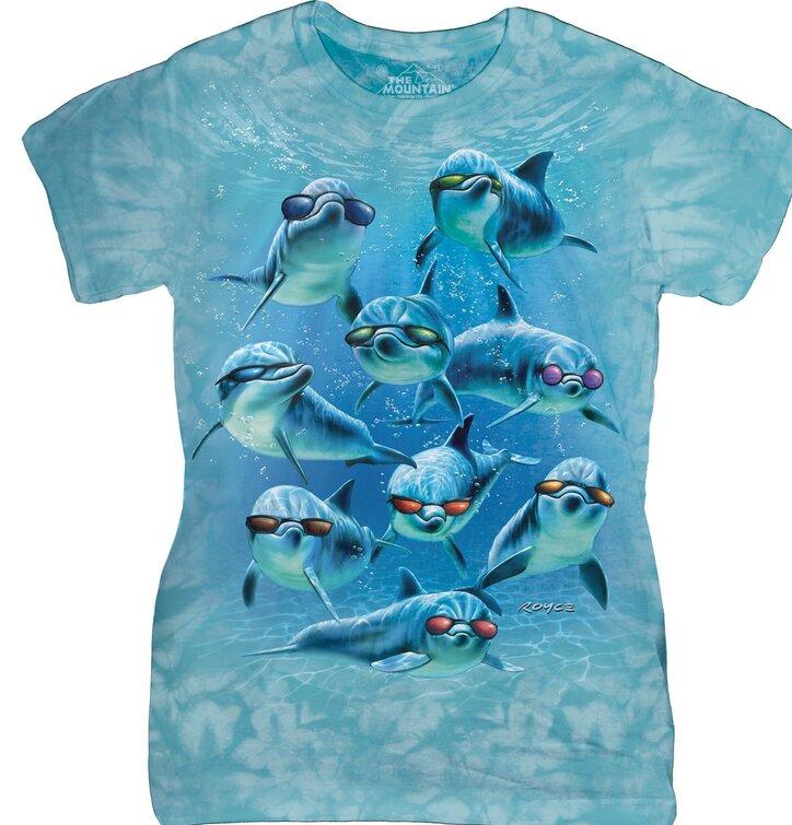 Dámske tričko Cool delfíny
