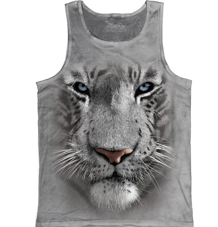 White Tiger Face  Unisex