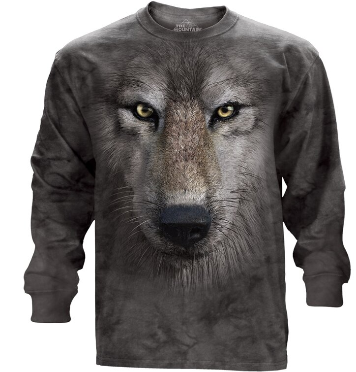 Long Sleeve Wolf's Face