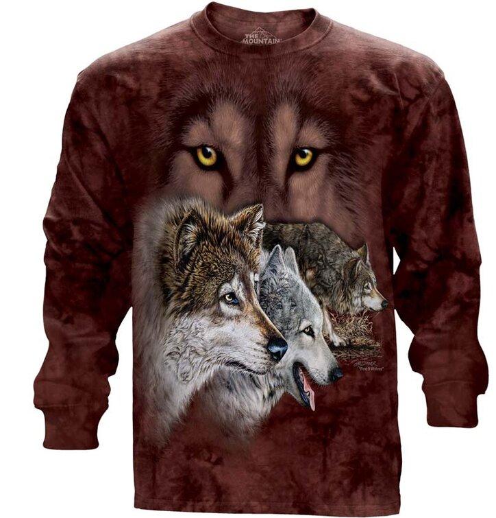 Dlouhý rukáv Najdi 9 vlků