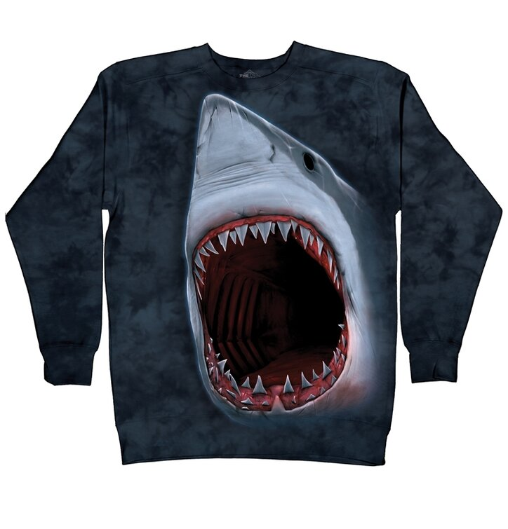 Sweatshirt ohne Kapuze Haizähne