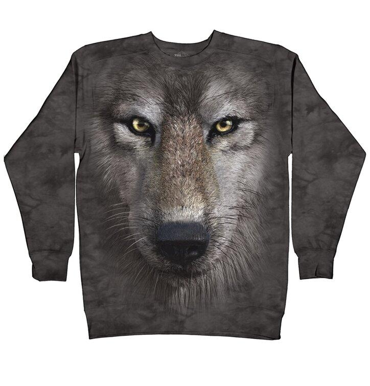 Sweatshirt ohne Kapuze 3D Wolf