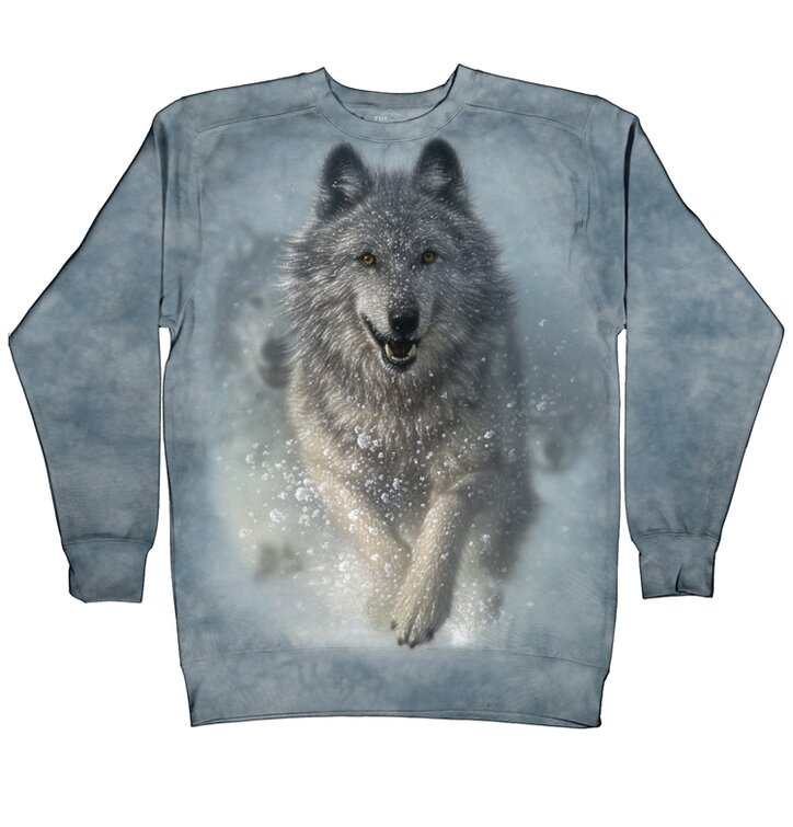 Mikina bez kapucne Snežný vlk