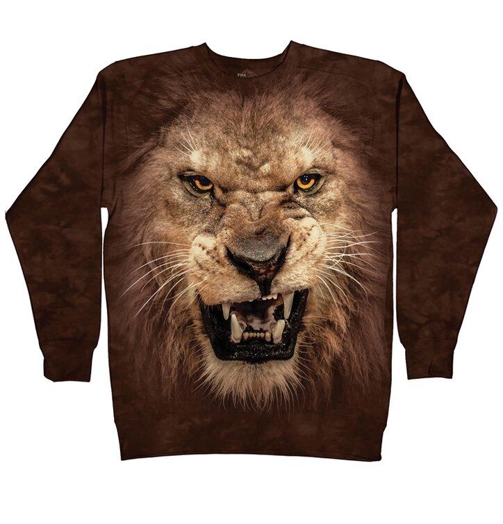 Sweatshirt ohne Kapuze Wütender Löwe