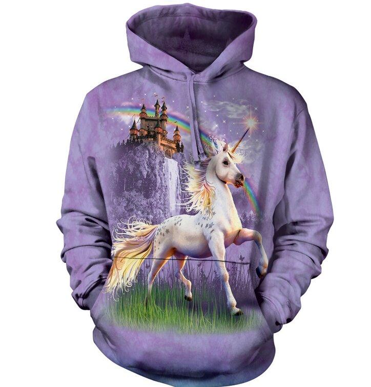 Sweatshirt mit Kapuze Einhorn