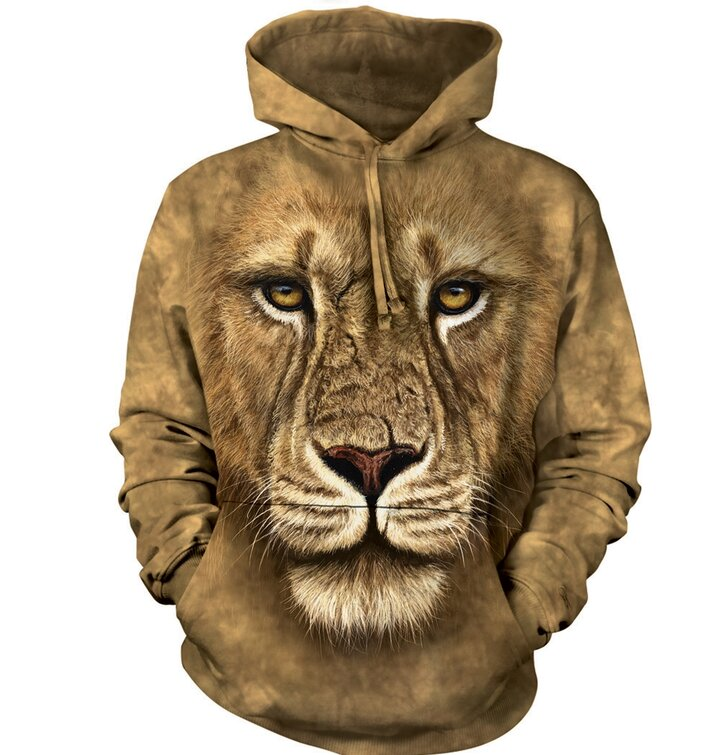 Sweatshirt mit Kapuze 3D Löwe