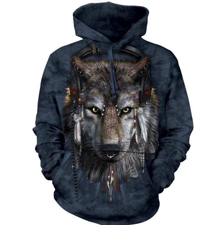 Mikina s kapucí DJ vlk