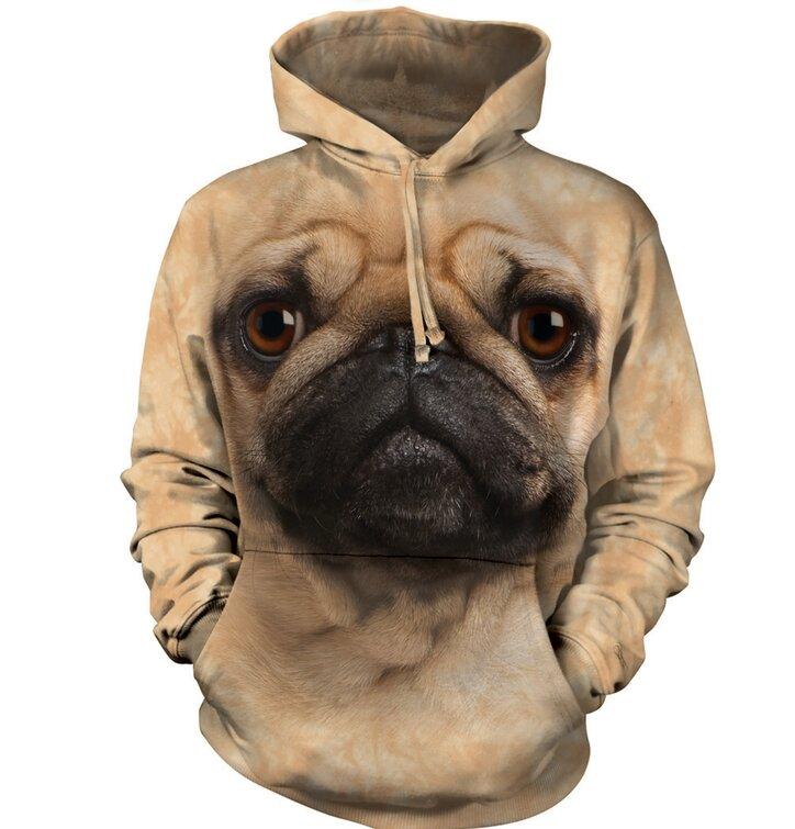 Sweatshirt mit Kapuze Mops