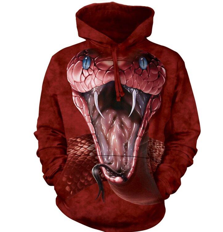 Sweatshirt mit Kapuze Rote Mamba